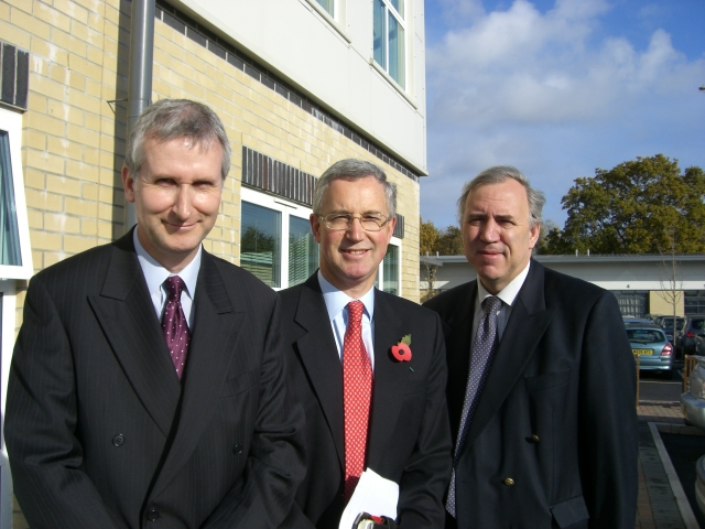 Peter Wheelhouse, Vivian Dunn and Robert Syms MP