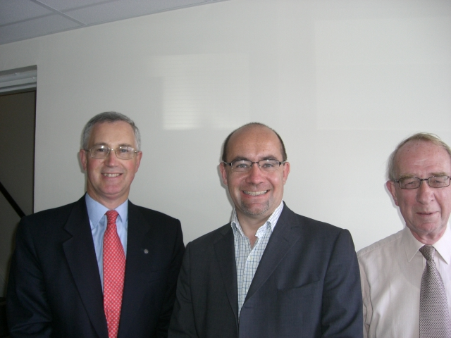 L-R: Vivian Dunn, Rt Hon Jim Knight MP, Tony Garvey